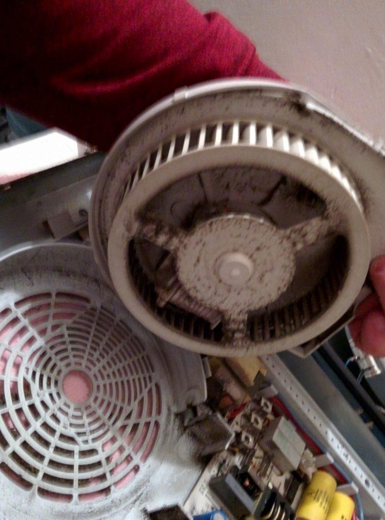 Вентилятор индукционной поверхности