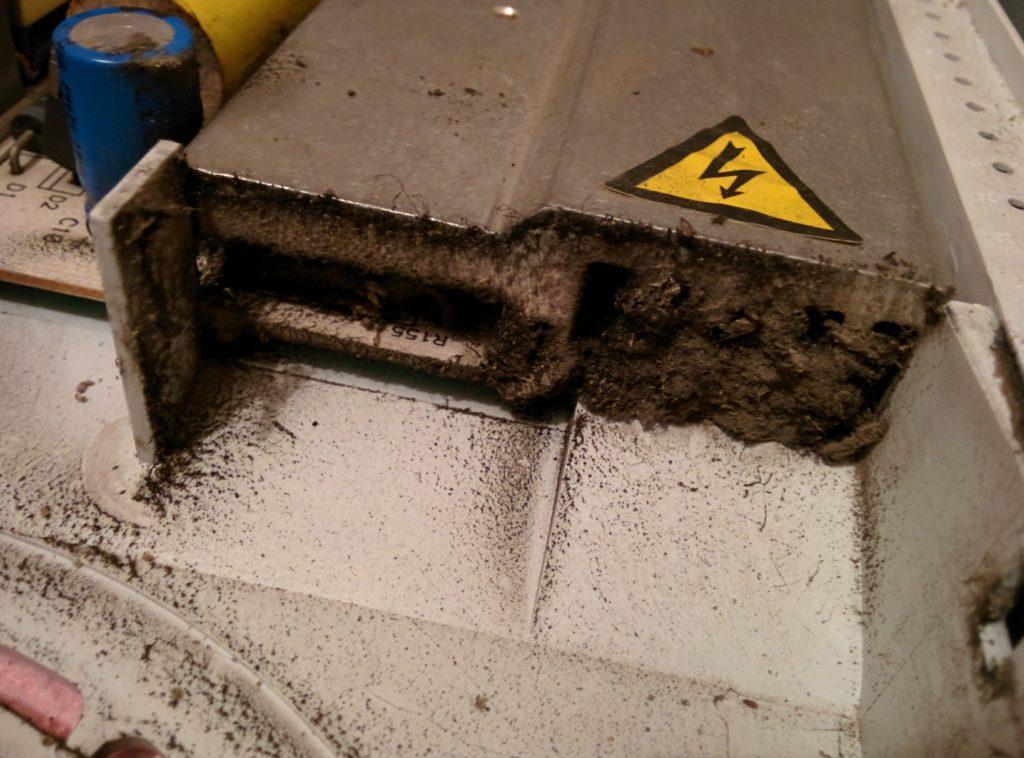 Забитый радиатор индукционной варочной